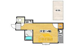フレグランス今宿II ・敷金礼金ゼロ・[201号室号室]の間取り