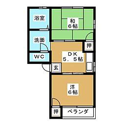 千代崎ハイツ[1階]の間取り