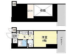 エステムコート新大阪3ステーションプラザ 10階1Kの間取り