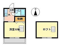 東京都武蔵野市吉祥寺本町3丁目の賃貸アパートの間取り