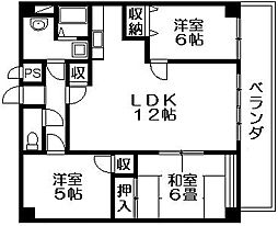 サンヴェール春日 吉田本町1 吉田駅16分[5階]の間取り