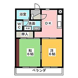 メゾン・ド・アムール[4階]の間取り