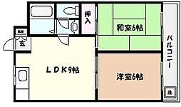 リバーサイド甲陽園[3階]の間取り