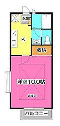 ソレジオ新所沢[2階]の間取り