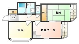 西郷マンションII[3階]の間取り