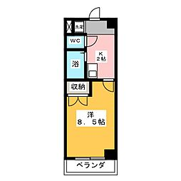 Dino中島[4階]の間取り