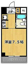 クレアーレ姫島[505号室]の間取り