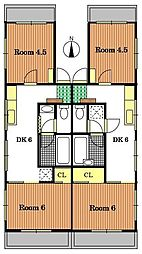 サンローヤルハイツ[3階]の間取り