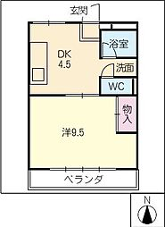 コーポカトウ[2階]の間取り