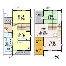 [テラスハウス] 大阪府堺市北区黒土町 の賃貸【/】の間取り