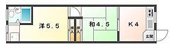 明日香ビル[3階]の間取り