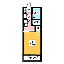 エスティーム西岩田[2階]の間取り