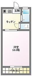 天竜浜名湖鉄道 常葉大学前駅 徒歩29分の賃貸アパート 2階1Kの間取り