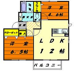 シャーメゾンエンリッチ[2階]の間取り