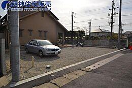 JR「西明石」駅より徒歩約15分の立地です。現地(2017年11月26日)撮影