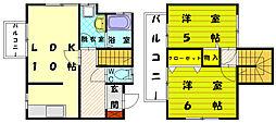 [テラスハウス] 福岡県古賀市千鳥6丁目 の賃貸【/】の間取り
