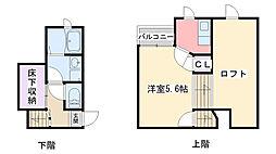 福岡県福岡市西区今宿東2丁目の賃貸アパートの間取り