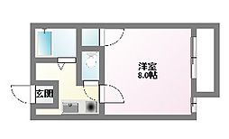 愛知県名古屋市名東区香坂の賃貸マンションの間取り