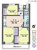 3DK・専有面積60.77平米・バルコニー面積9.31平米