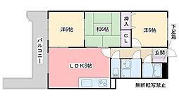 スワンマンション今宿[305号室]の間取り