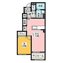 Y PLACE I[1階]の間取り