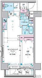 GENOVIA 東神田 green veil 6階1DKの間取り