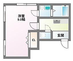 兵庫県神戸市兵庫区荒田町2丁目の賃貸マンションの間取り
