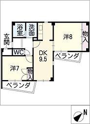 COZY HEIGHTS春日井[1階]の間取り