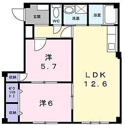 コンコードHAYASHI[203号室]の間取り