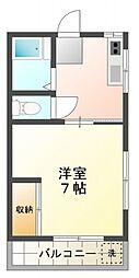 O.Sハウス[2階]の間取り