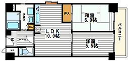 ユニハイム夕陽丘[2階]の間取り