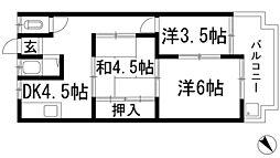 マンション鴨[2階]の間取り
