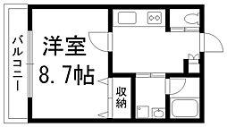 lusia casa[0203号室]の間取り