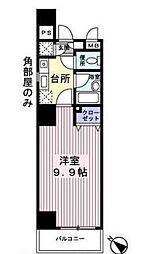 神奈川県横浜市南区万世町1丁目の賃貸アパートの間取り
