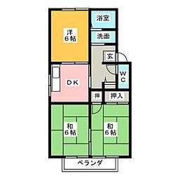 サニーヒル松ノ木A棟[2階]の間取り