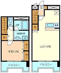 仙台市営南北線 北四番丁駅 徒歩16分の賃貸マンション 12階1LDKの間取り