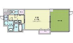 JR東海道・山陽本線 岸辺駅 徒歩3分の賃貸マンション 1階ワンルームの間取り