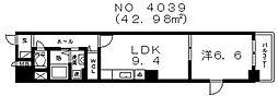 LN南河堀[203号室号室]の間取り