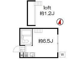 サウスハイム[1階]の間取り