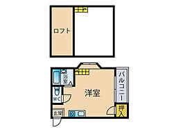 マキシム美野島[1階]の間取り