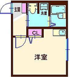 神奈川県横浜市神奈川区二本榎の賃貸アパートの間取り