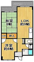 栄平尾マンション[3階]の間取り
