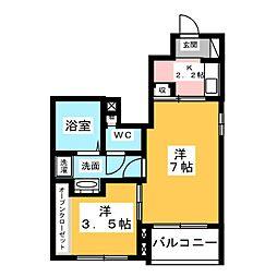 愛知県名古屋市中川区小本本町3丁目の賃貸アパートの間取り