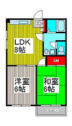 第2豊マンション[2階]の間取り