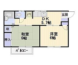 オザワビレッジ[2階]の間取り