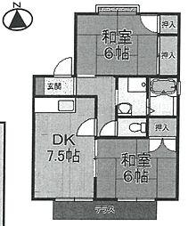 神田ハウスI[101号室]の間取り