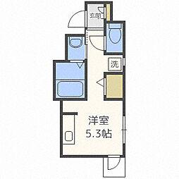 プチ・パール吉塚駅前 2階ワンルームの間取り