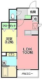 神奈川県小田原市飯泉の賃貸アパートの間取り
