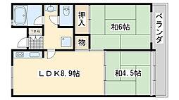 佐野湊団地1号棟[402号室]の間取り