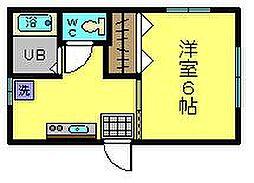 東京都府中市多磨町2丁目の賃貸アパートの間取り